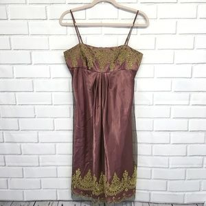 Adrianna Papell Boutique Dusty Rose and Gold Dress